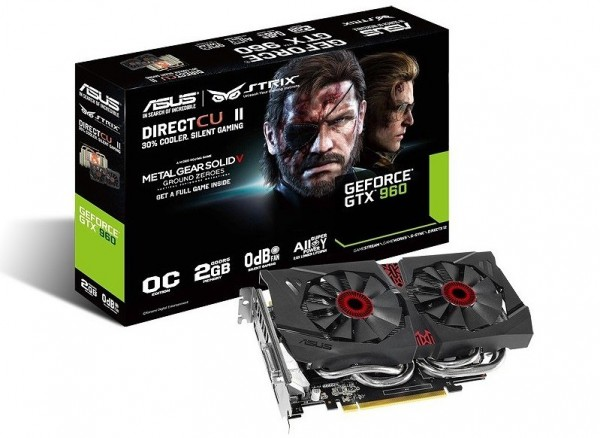 ASUS GeForce GTX 960 StriX (STRIX-GTX960-DC2OC-2GD5-SP)