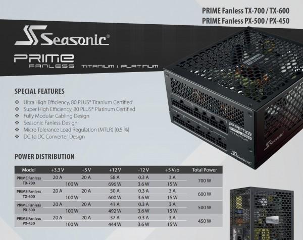 SeaSonic Prime Fanless