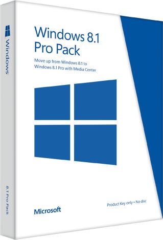 Microsoft Windows 8.1 Pro Pack