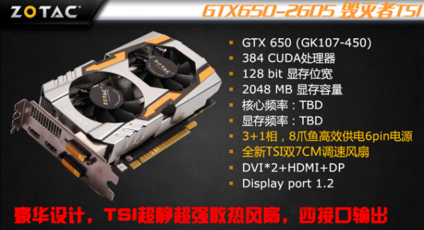 Zotac GeForce GTX 650 Extreme