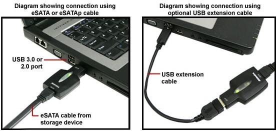 Переходник с USB 3.0 на eSATA от Addonics