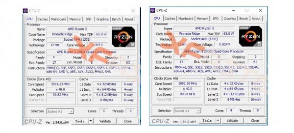 Ryzen 3 2300X и Ryzen 5 2500X
