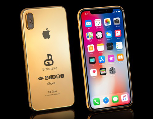 Apple iPhone Xs Billionaire Solid Gold Edition
