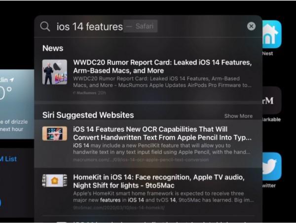 Apple поиск, Google