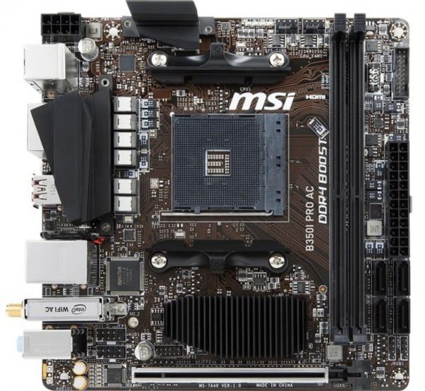 MSI B350I PRO AC