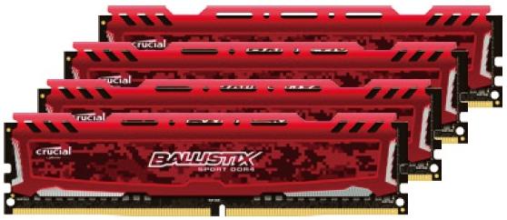 Crucial Ballistix Sport LT DDR4 RED