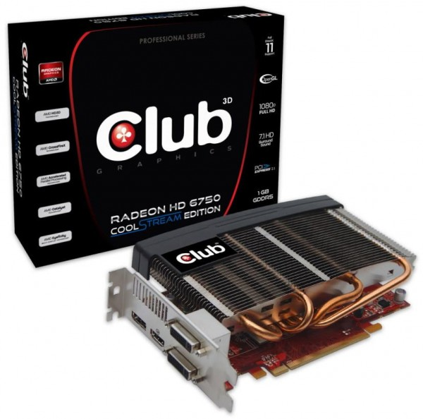 Видеокарта Club 3D Radeon HD 6750 CoolStream Edition