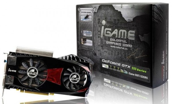 Видеокарта Colorful iGame 550Ti-1024M D5 Ymir