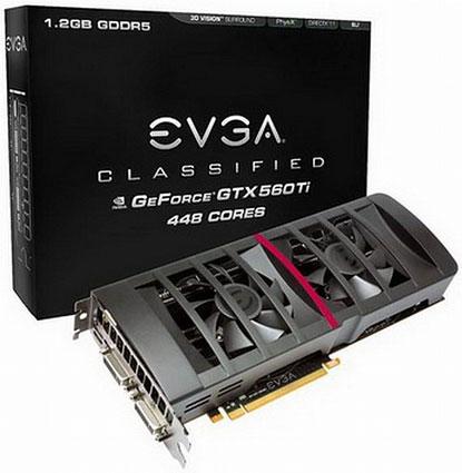 EVGA GeForce GTX 560 Ti Classified 448 Cores