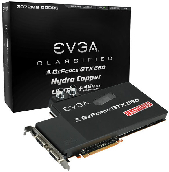 EVGA GeForce GTX 580 Classified Ultra Hydro Copper
