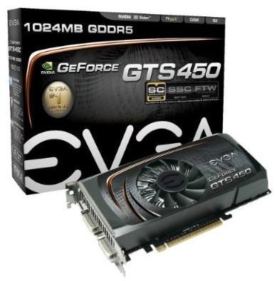 Видеокарта EVGA GTS 450 SuperClocked
