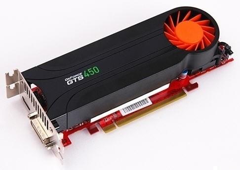 Низкопрофильная видеокарта Gainward GeForce GTS 450