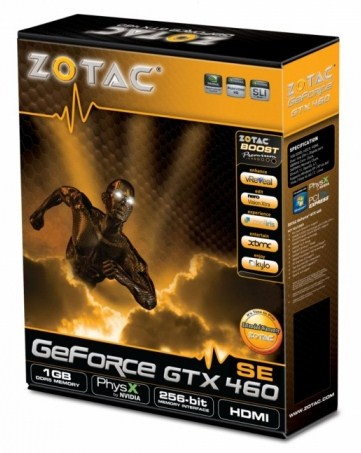Видеокарта ZOTAC GeForce GTX 460 SE