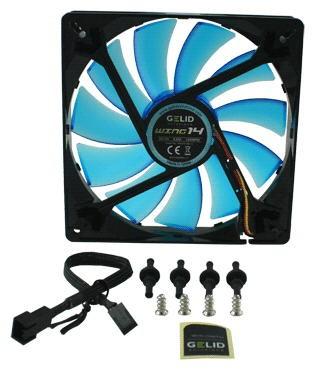 Вентилятор Gelid Wing 14 UV Blue