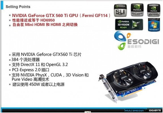 Видеокарта Gigabyte GeForce GTX 560 Ti WindForce 2X