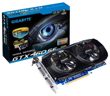 Видеокарта Gigabyte GeForce GTX 460 SE