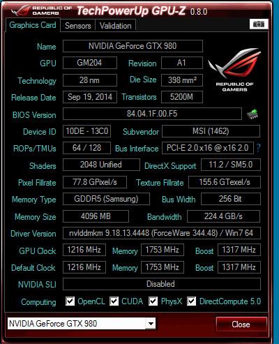 ASUS GPU-Z 0.8.0