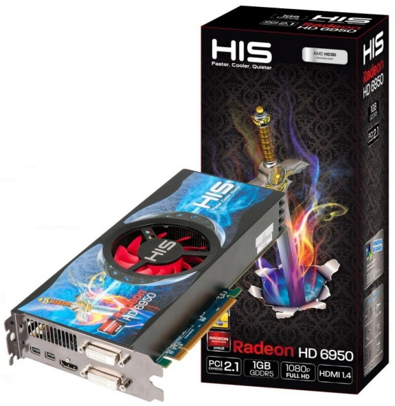 Видеокарта HIS Radeon HD 6950 Fan