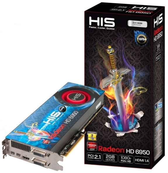 Видеокарта HIS Radeon HD 6950 Fan Turbo