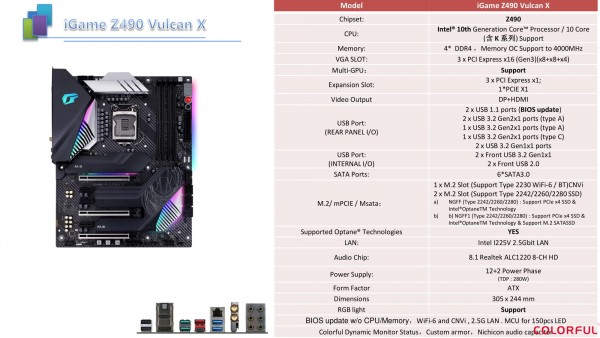 Colorful iGame Z490 Vulcan X