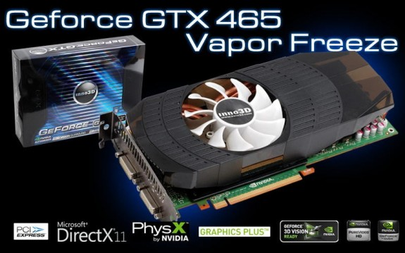 GeForce GTX 465 OC Vapor Freeze