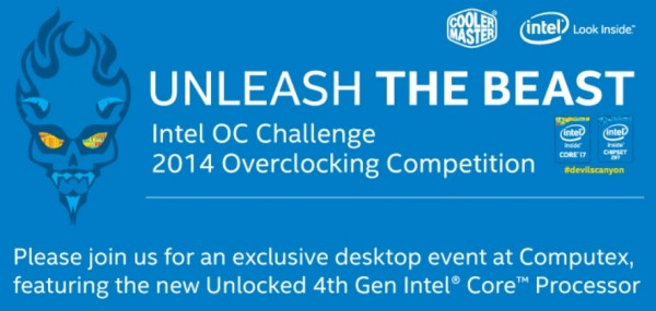 Intel OC Challenge for Amateurs Computex 2014
