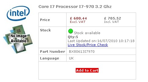 Начаты поставки Intel Core i7-970