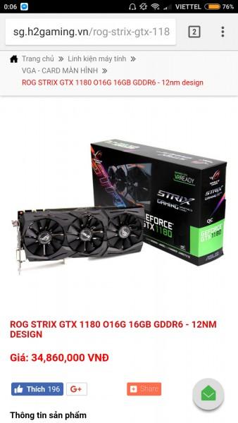 ASUS GeForce GTX 1180 ROG Strix