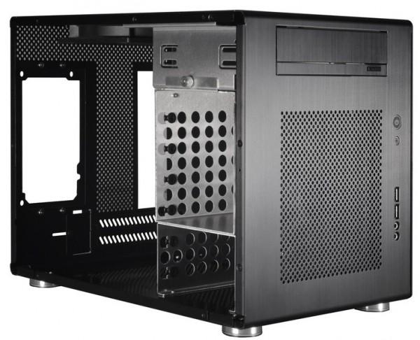 Внутренности корпуса Lian Li Mini-Q PC-Q08B