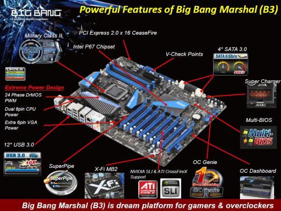 Материнская плата MSI Big Bang Marshall