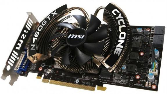 Видеокарта MSI GeForce GTX 460 Cyclone