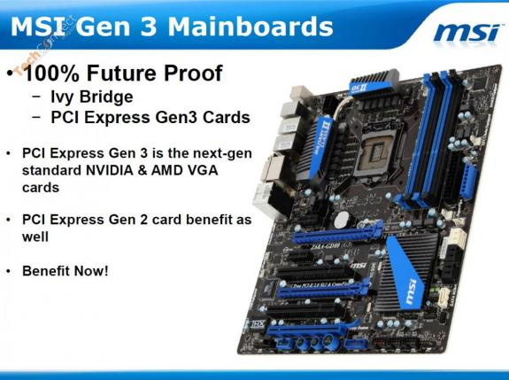 MSI LGA1155 PCI-Express 3.0