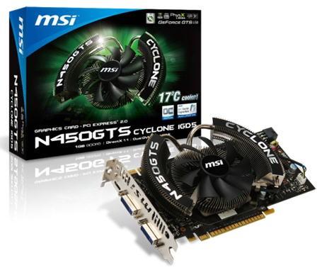 Видеокарта MSI N450GTS Cyclone