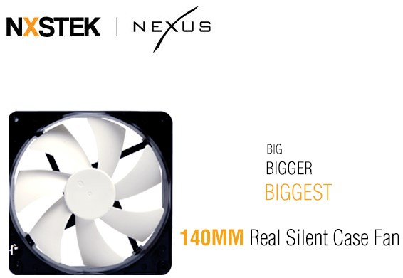 Nexus Real Silent Case Fan (D14SL)