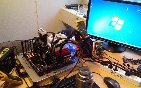 Разгон ASUS EAH5870 MATRIX Radeon HD 5870 жидким азотом