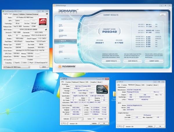 Результаты разгона ASUS EAH5870 MATRIX Radeon HD 5870