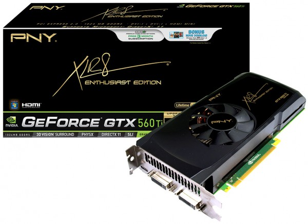 Видеокарта PNY XLR8 GeForce GTX 560 Ti Enthusiast Edition