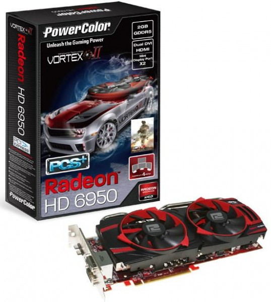 Видеокарта PowerColor PCS+ HD6950 Vortex II Edition