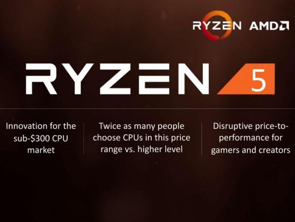 Ryzen 5 1600X, Ryzen 5 1600, Ryzen 5 1500X, Ryzen 5 1400
