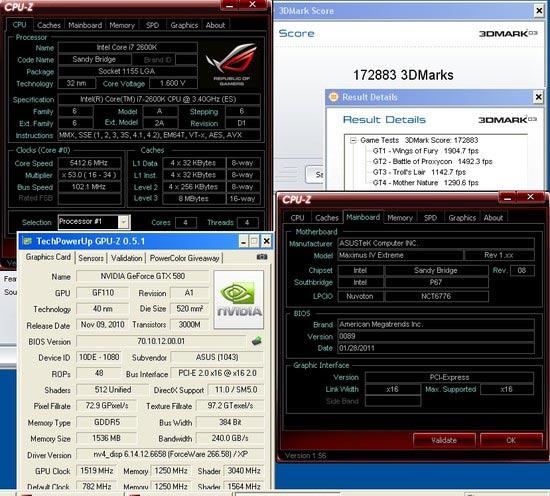 Разгон ASUS GeForce GTX 580 DirectCU II