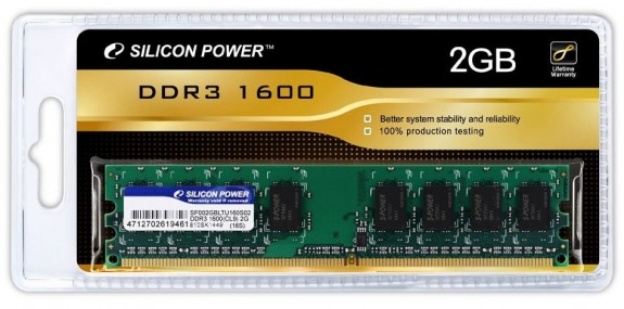 Наборы DDR3-памяти Silicon Power DDR3-1600