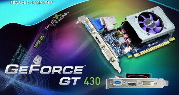 Видеокарта Sparkle GeForce GT 430 512 МБ