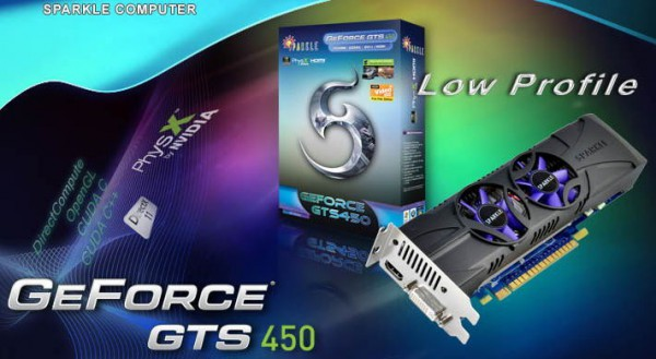 Sparkle GeForce GTS 450 Low Profile