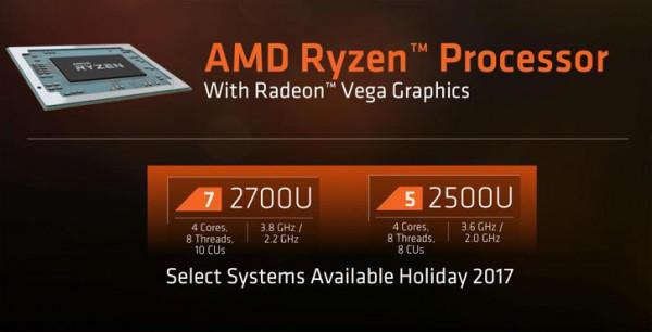 Ryzen 5 2500U и Ryzen 7 2700U