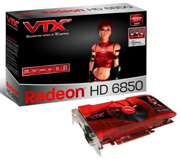 Видеокарта Vertex3D Radeon HD 6850