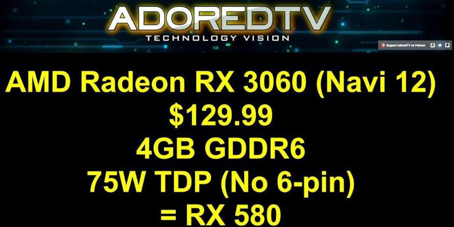 Видеокарты поколения AMD Navi (7 нм) получат обозначения Radeon RX 30X0?
