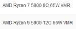 Ryzen 9 5900 и Ryzen 7 5800