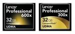 Карты памяти Lexar CompactFlash из серии «600x» и «300x»