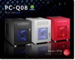 Корпус Lian Li Mini-Q PC-Q08. Красный, серебристый и черный варианты.